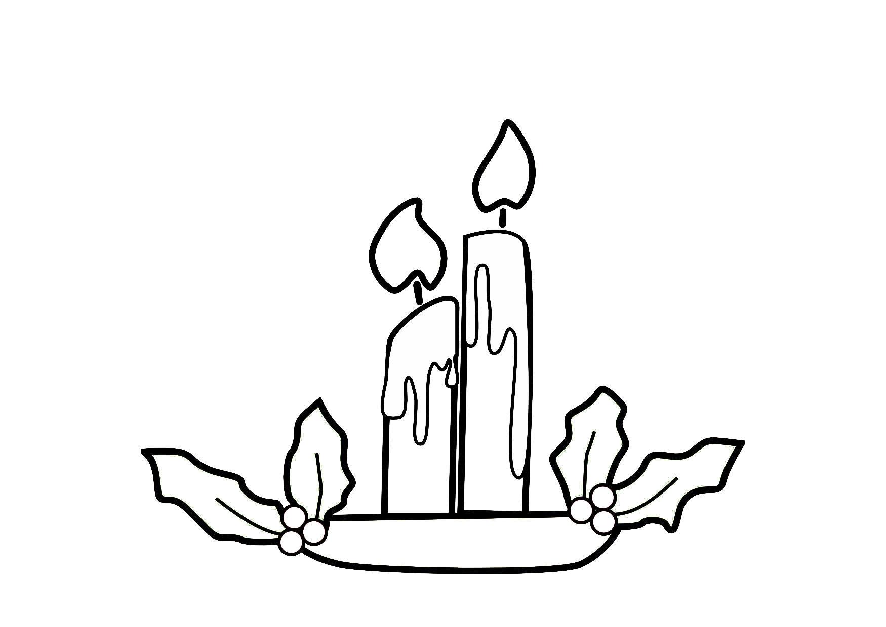 coloriage bougies de no l img 9141. Black Bedroom Furniture Sets. Home Design Ideas