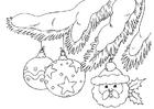 Coloriage boules de Noël