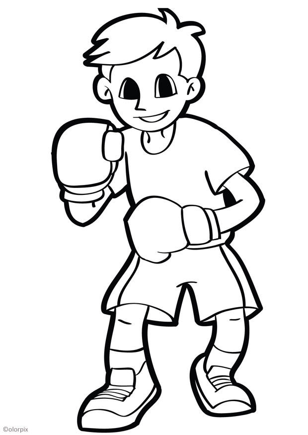 coloriage boxer img 26043
