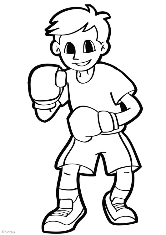 Coloriage boxer img 26043 - Coloriage boxer ...