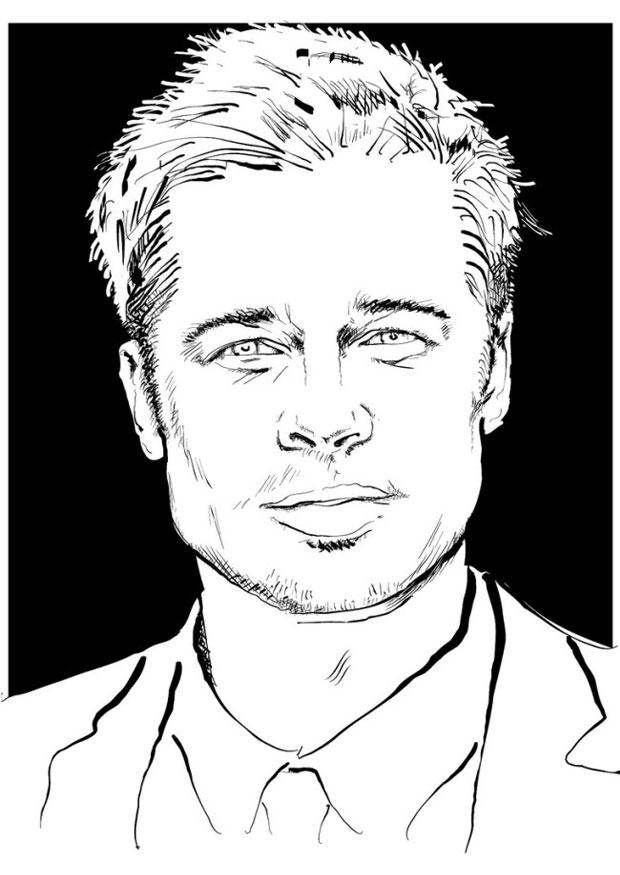 coloriage-brad-pitt-dl24686