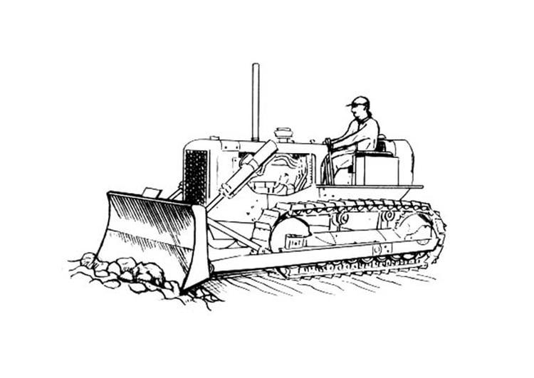 Coloriage Bulldozer Img 18822