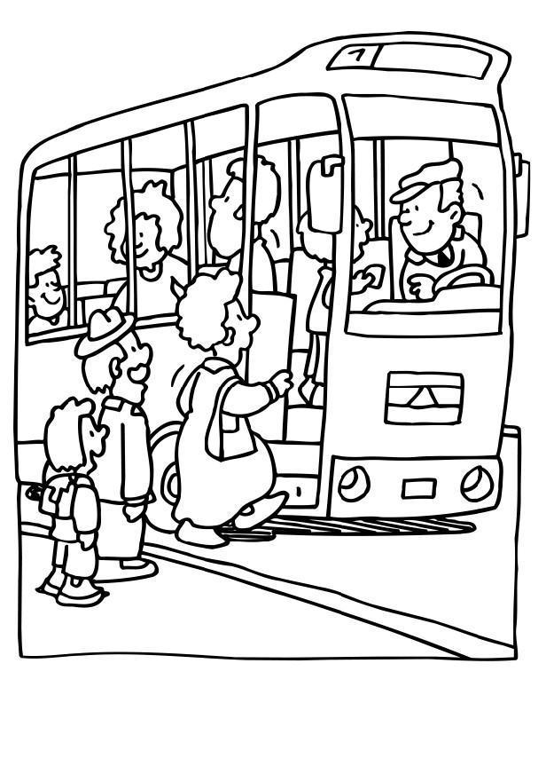Imagenes para colorear de un autobus - Autobus scolaire dessin ...