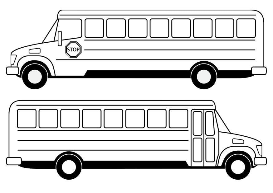 Coloriage bus scolaire img 29479 - Autobus scolaire dessin ...