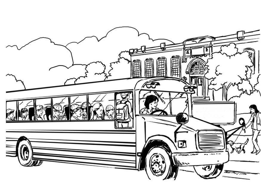 Coloriage bus scolaire img 8053 - Autobus scolaire dessin ...