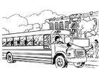 Coloriages bus scolaire