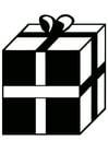 Coloriage cadeau de Noël
