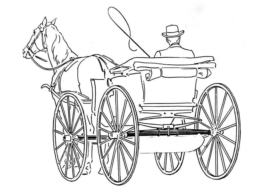 Coloriage Cheval Avec Caleche.Coloriage Caleche Img 18783
