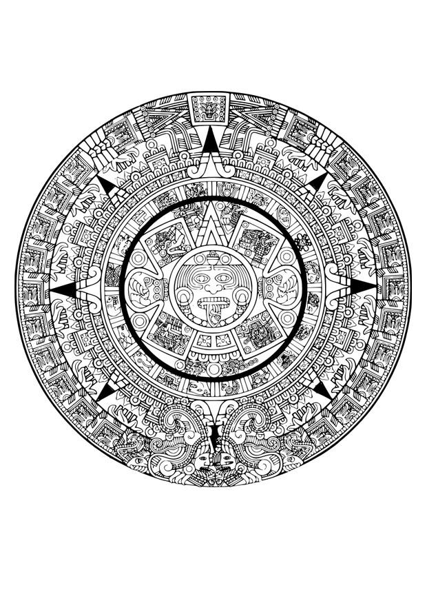 Coloriage calendrier azt que img 29116 images - Dessin azteque ...