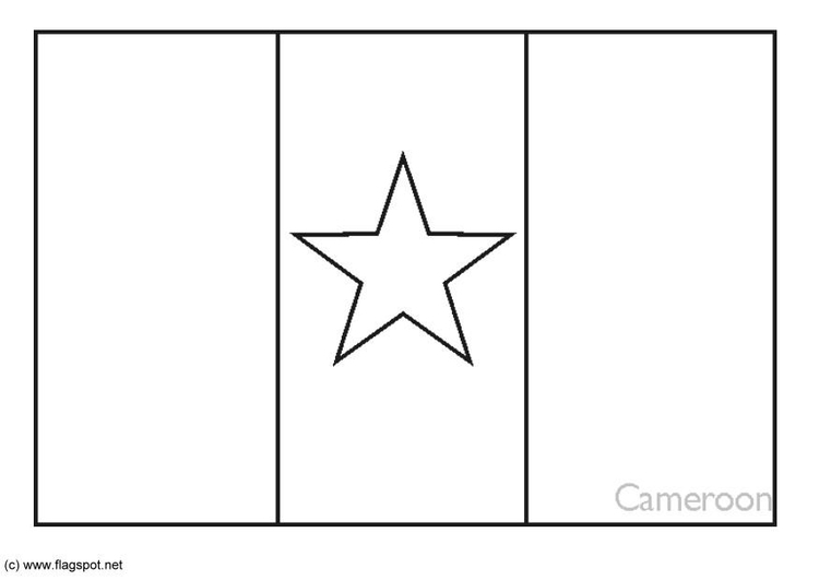 Cameroon Flag Coloring Page