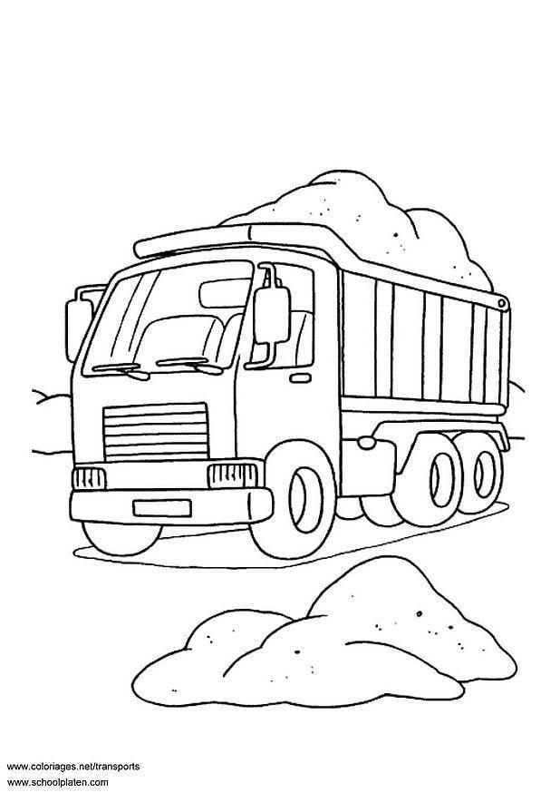 Coloriage camion benne img 3099 - Dessin de camion a imprimer ...