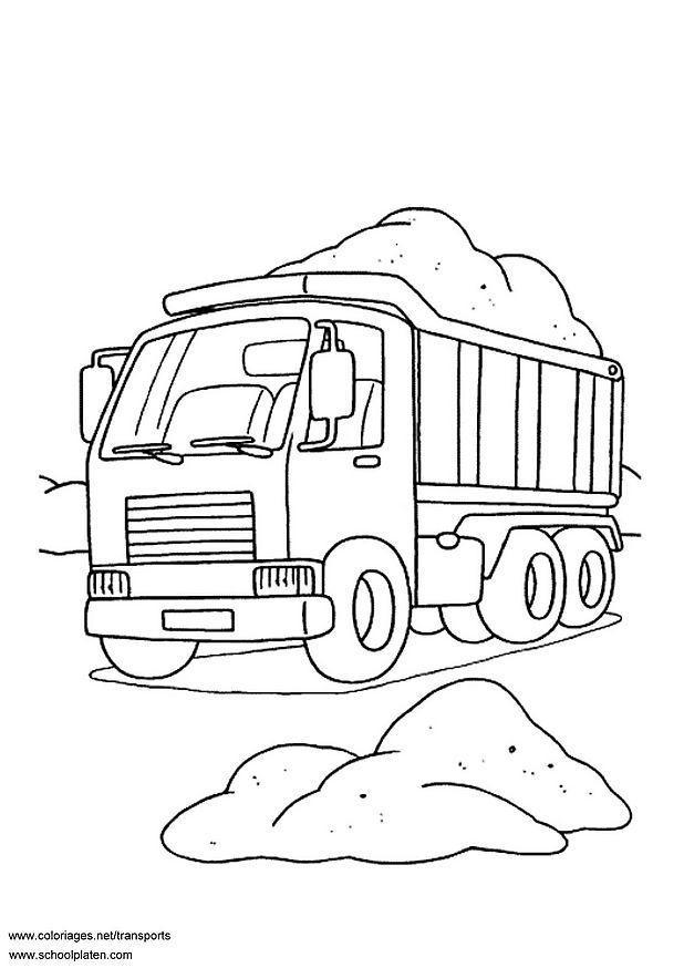 Kleurplaten Printen Monster Truck Coloriage Camion Benne Img 3099 Images