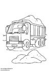 Coloriages camion-benne
