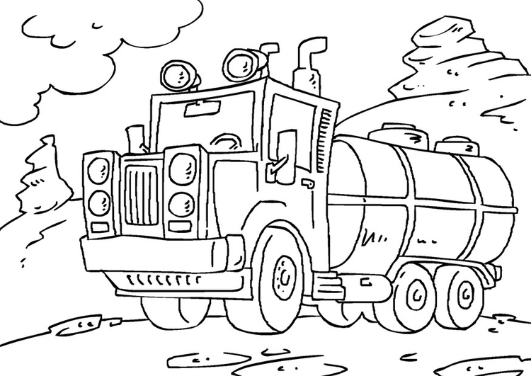 Coloriage Camion Citerne Img 27172 Images