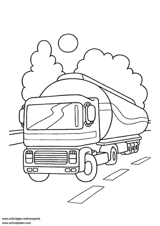 Coloriage Camion Citerne Img 3085 Images