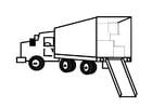 Coloriage camion de déménagement plein