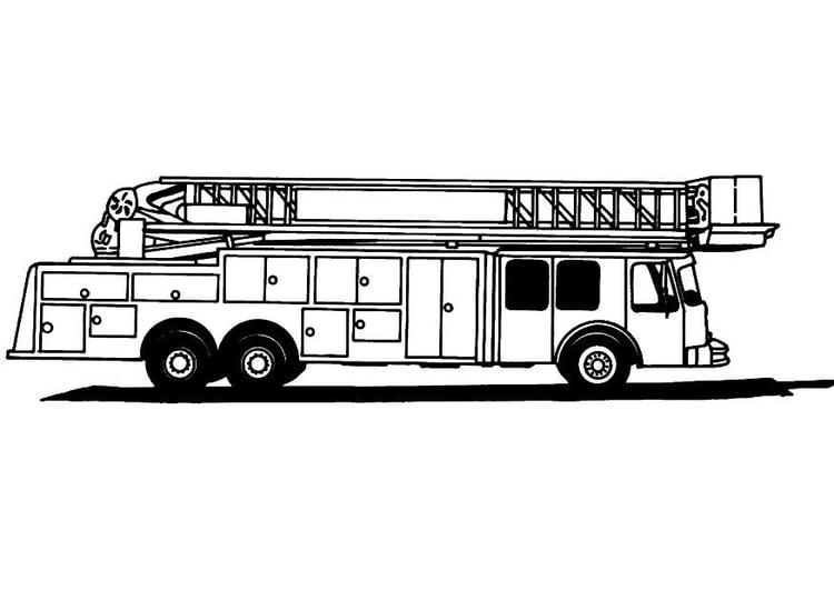 Coloriage camion de pompier 2 img 8165 - Dessin d un camion de pompier ...