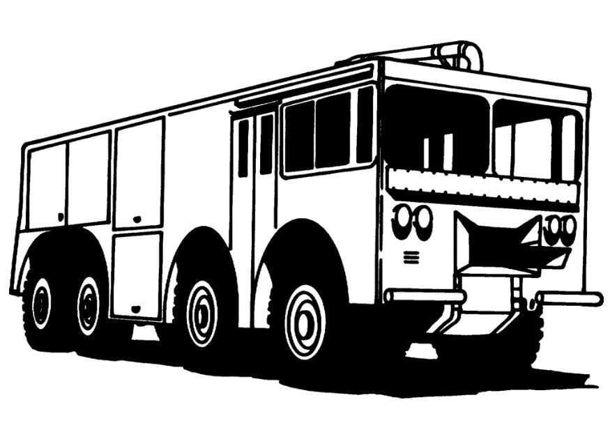 Coloriage camion de pompier img 8167 - Camion de pompier dessin ...