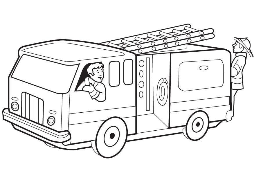 Fresh Coloriage Camion De Pompier à Imprimer Inspirant