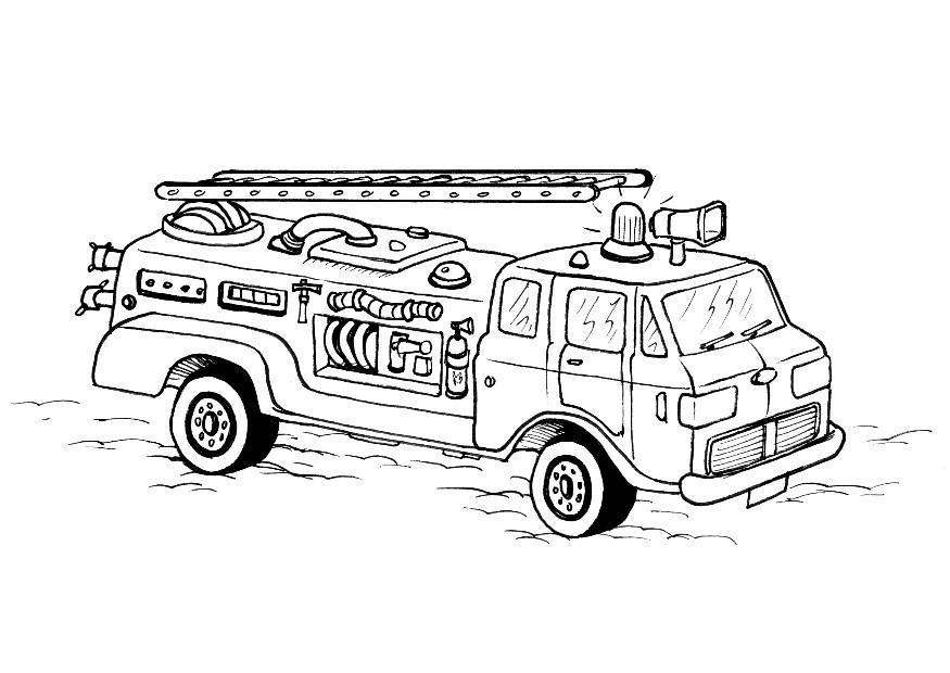 Coloriage Camion De Pompier Img 8178 Images