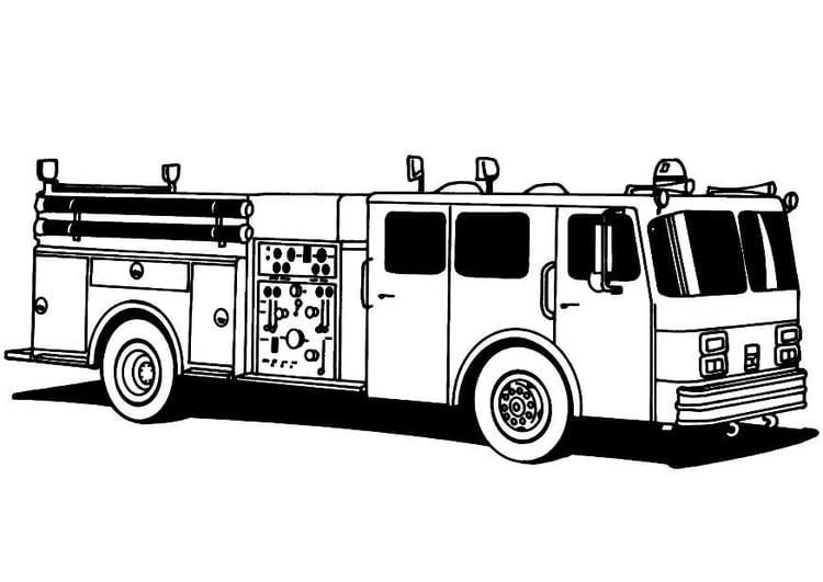 Coloriage Camion De Pompier Coloriages Gratuits A Imprimer