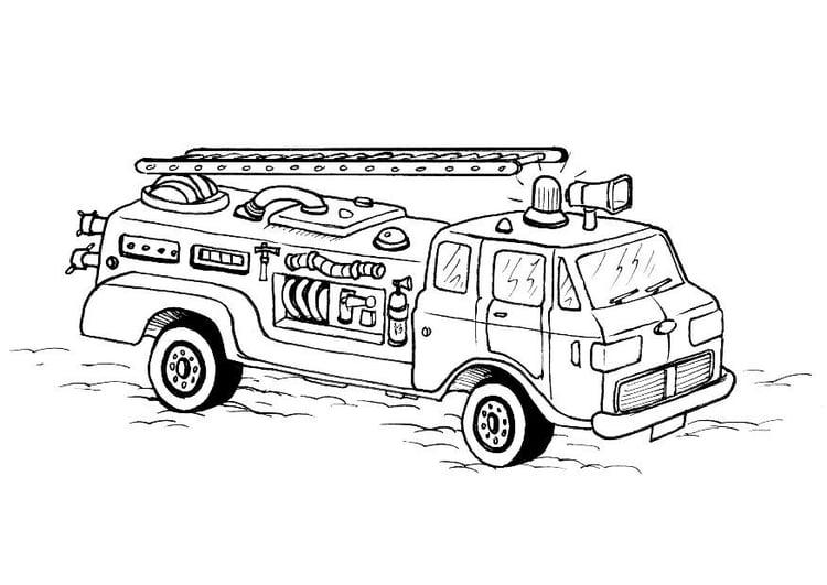 Coloriage camion de pompier img 8178 - Coloriage camion de pompier ...