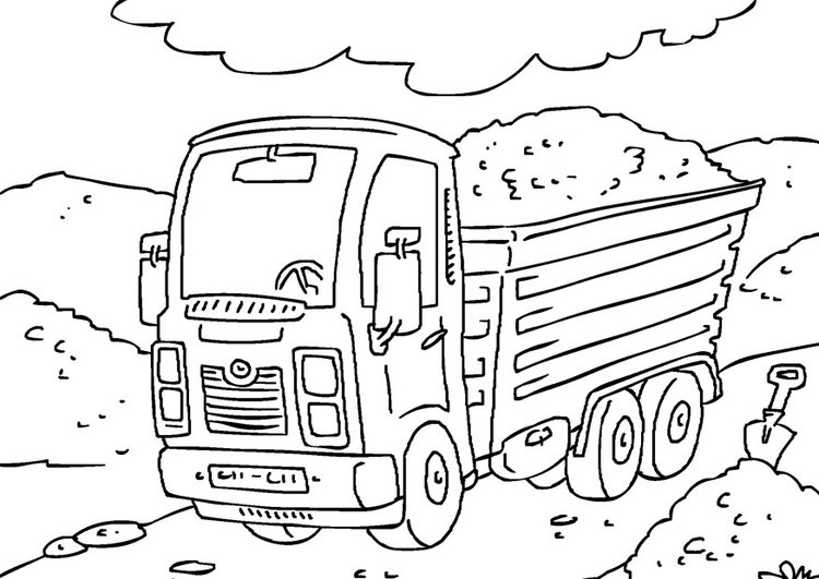 Cars Vrachtauto Kleurplaat Coloriage Camion Img 27176