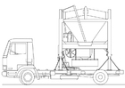 Coloriage camion - mixeur de sable