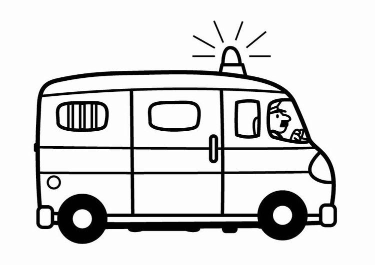 Coloriage camionnette de police img 24114 - Coloriage police ...