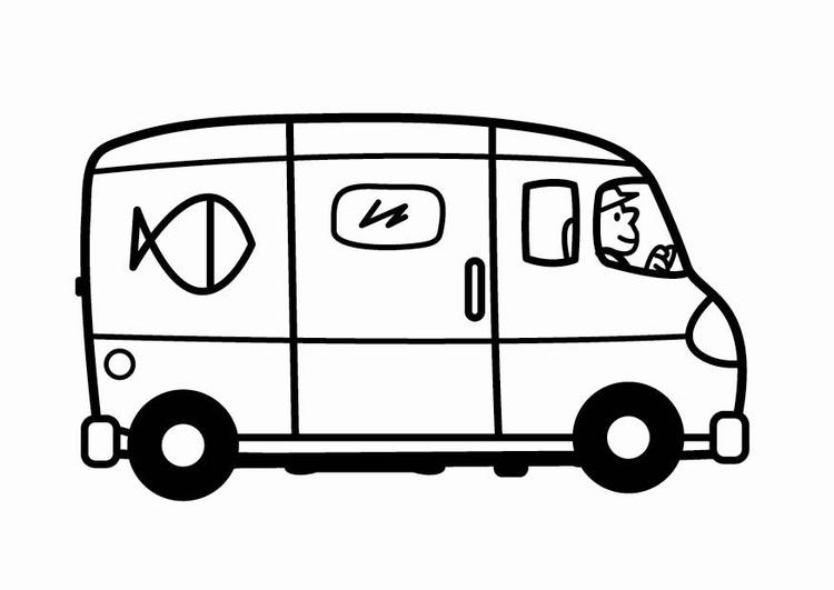Coloriage Camionnette.Coloriage Camionnette Img 24084