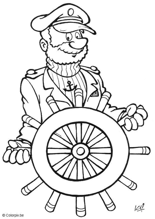 Coloriage capitaine