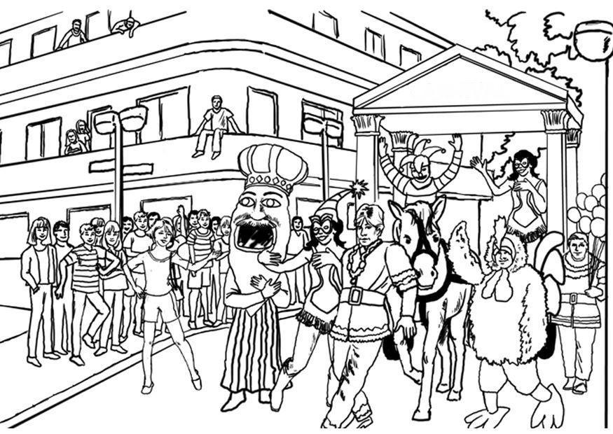 Coloriage carnaval img 8041 - Dessins de carnaval ...