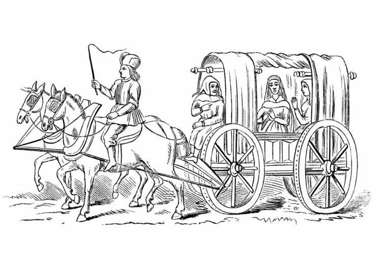 Coloriage Cheval Carrosse.Coloriage Carrosse 15ia Me Siecle Img 18772 Images