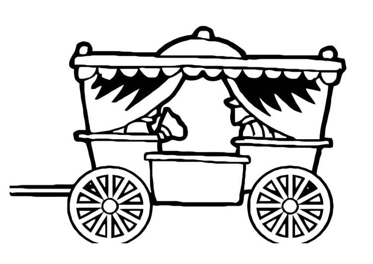Dessin Carrosse coloriage carrosse - img 18780