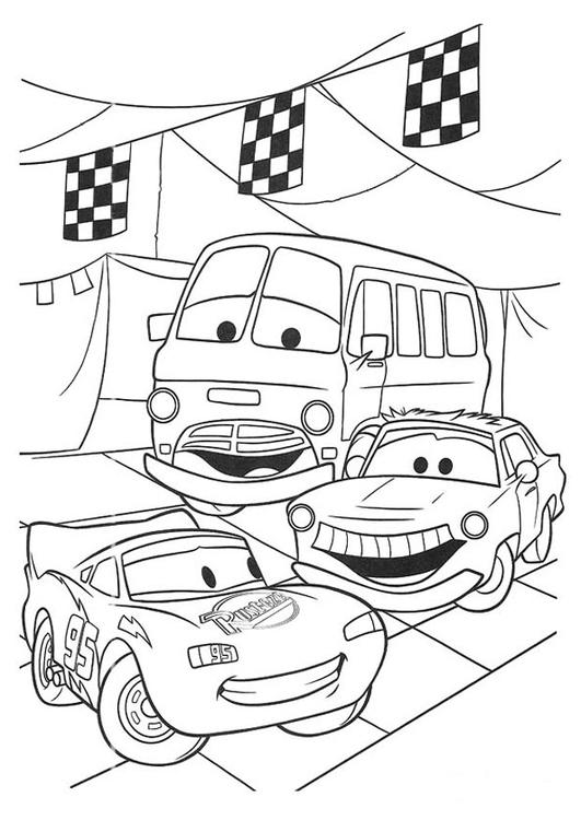 Coloriage Cars Quatre Roues Coloriages Gratuits A Imprimer Dessin 20749