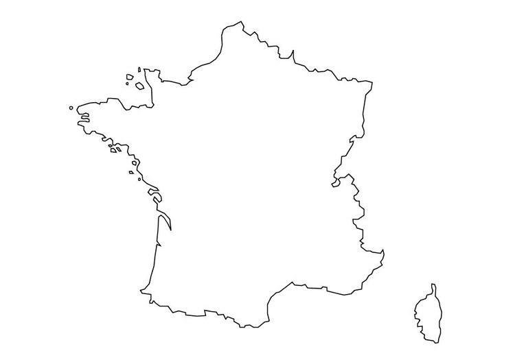 Coloriage carte de la France
