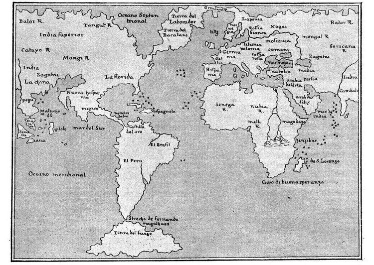 Coloriage carte du monde 1548