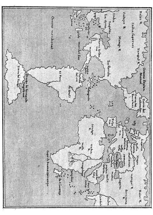 carte du monde 1548
