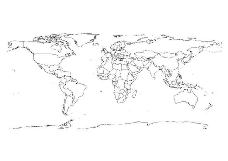 coloriage carte du monde