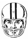 Coloriages casque - American Football