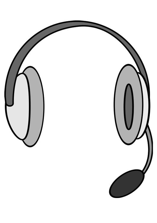 Kleurplaten Radip Coloriage Casque Avec Microphone Img 27133