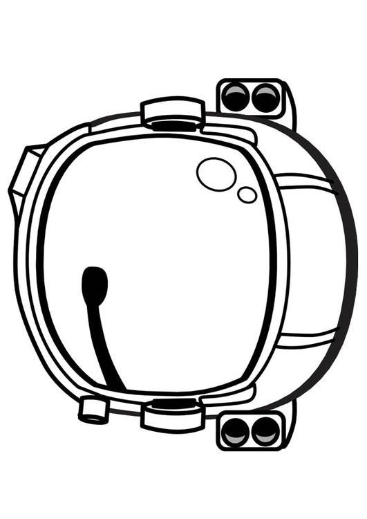 Coloriage casque d 39 astronaute img 17346 - Dessin d astronaute ...