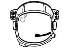 Coloriage casque d'astronaute