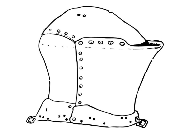 coloriage casque de chevalier img 10633