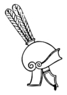 Coloriage casque Grec