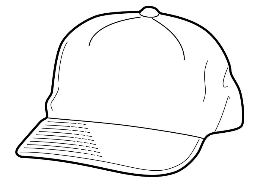 Coloriage casquette img 18956 for Baseball cap coloring page