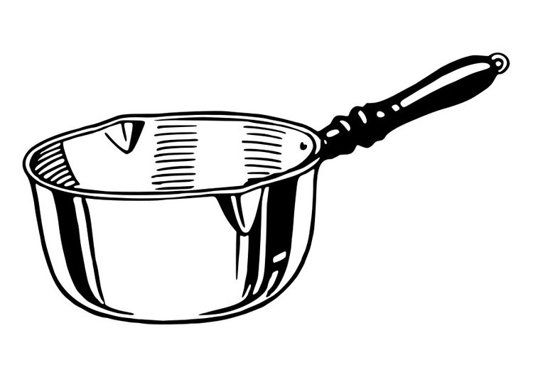 Coloriage casserole img 30150 - Casserole dessin ...