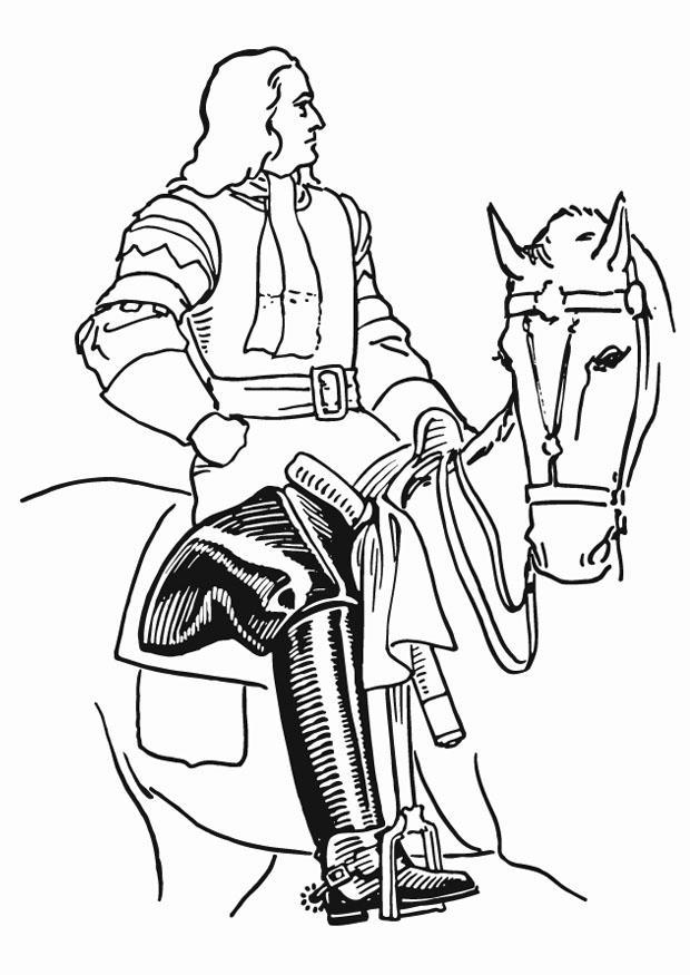 Coloriage Cavalier Avec Bottes Img 13279 Images