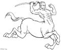 Coloriage centaure