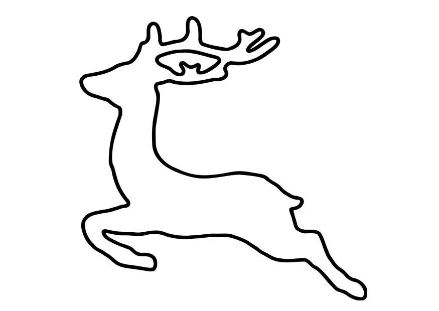 Coloriage cerf img 27263 - Coloriage de cerf ...